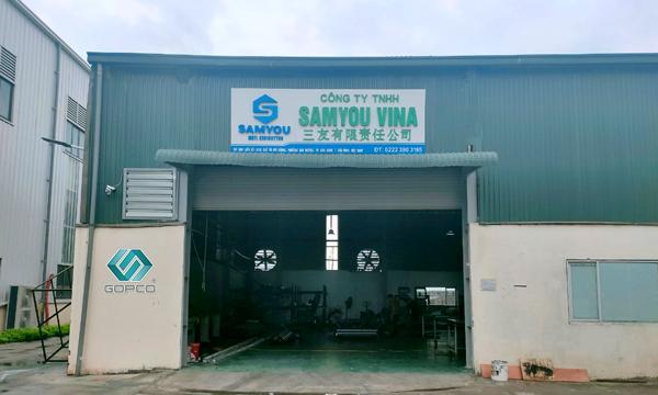 Gopco Việt Nam đã lắp đặt dây chuyền sản xuất nhôm tại Công ty TNHH SAMYOU VINA