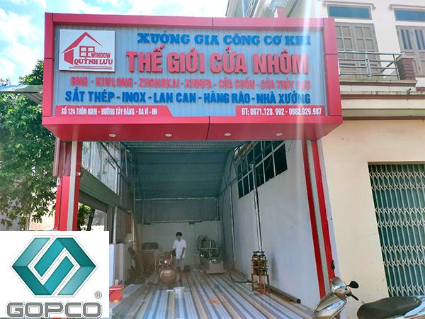 Gopco lắp đặt dây chuyền sản xuất cửa nhôm tại Ba Vì, Hà Nội