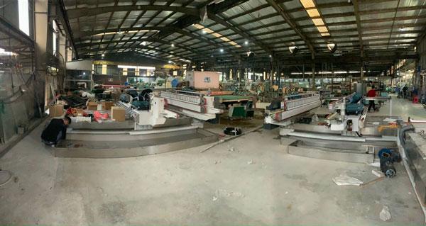 Lắp đặt và bàn giao máy mài kính song cạnh chữ L tại Nam Phát Glass